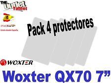 """Pack 4 Protectores para Tablet Woxter QX70 QX 70 7"""" pulgadas"""