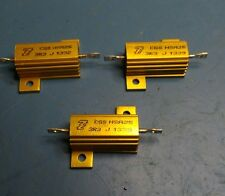 New and unused, 3R3 25W chassis mounting wire wound resistors (3 Pieces)