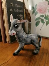 More details for adorable vintage mid-century kitsch 60s/70s donkey figurine ornament (repaired)