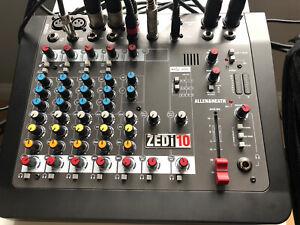 Allen & Heath ZEDi-10 Hybrid compact mixer / 4×4 USB interface. Mint!