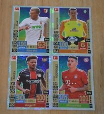 Topps Match Attax 18/19 4x Club 100 Max, Pavlenka, Bailey, James Set 2018/2019