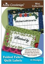 Anita Goodesign Embroidery Machine Design CD FOLDED FABRIC QUILT LABELS