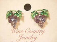 Grape cluster Austrian Crystal earrings jewelry small post wine country Napa