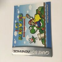 Super Mario Advance 2 Super Mario World - Game Boy Advance Manual ONLY!