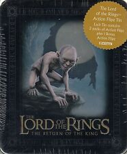 LORD RINGS RETURN OF THE KING 2003 COLLECTIBLE ACTION FLIPZ TIN 2 PACKS GOLLUM