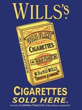 Willis's Cigarettes Sold Here large steel sign 400mm x 300mm (og)