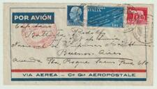 ITALY 1934 Zeppelin Aerogram to Buenos Aires from Trieste / N5713