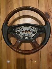 Mercedes S Class W221 Half Wood Half Leather Steering Wheel