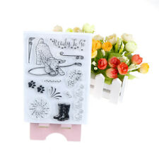 Dog Foot Print Fireworks Ready To Go Scrapbook Diy Photo Cards Clear Stamp CJ