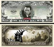 Dracula Vampire Silver Million Dollar Bill Collectible Funny Money Novelty Note