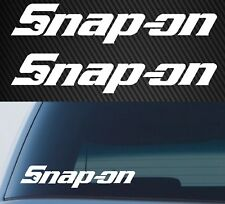 SNAP ON TOOLS Stickers Decals x2 JDM Decals Vintage Garage Bar Man Cave