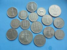 United Arab Emirates, Collection showing Fils/Dirham Coins.