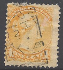 Canada Used Stamp-Scott #35-1870 Small Queen 1c yellow  (Lot Canada 4)