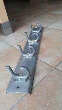 ANCIEN VESTIAIRE PORTE MANTEAU ALU  4 PATERES ALU vintage 57 cm