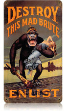 Destroy Kaiser Monkey Metal Sign - Hand Made in the Usa with American Steel