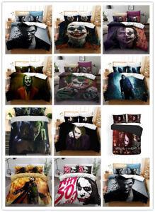 Funny Joker 3D Bedding Set Duvet Quilt Cover Pillowcase Bedclothes
