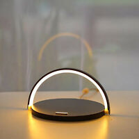 Fast Phone 10W Qi Wireless Charger Station Night Light for iPhone SE 2 11 X