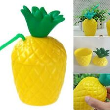New Plastic Pineapple Drink Fruit Cups Beach Cup Tropical Party Decoration Hot