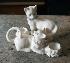 Lenox Jewels Collection Two Cat Porcelain Figurine