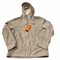 Merrell Fallon 4.0 Rain Jacket Full Zip with Hood Grey Mens Large