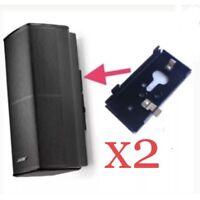 2 New Bose SlideConnect WB-50 Wall Brackets WB50 - Black (aka UB20-II / UB-20)