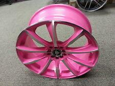 17 Inch Wheels Rims Pink Machine #1026 White Diamond Edition 5X114.3 NEW PRODUCT