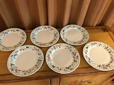 FARBERWARE Stoneware ENGLISH GARDEN Set of 6 Salad or Dessert Plates