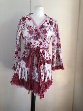 Odd Molly Wrap Top Camisa Blusa Kimono Boho Hippy Años 70 Vibe UK 12 (3) Floral