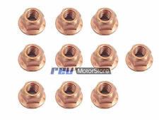 8mm cobre recubierto de Brida Auto Bloqueo Tuercas x10 exhaustmanifold Turbo wastegate
