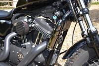 Réserve en métal en forme de cartouche munition - Noir (moto custom harley etc)