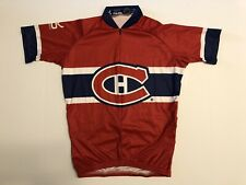 Rare Montreal Canadiens VOMAX Cycling Jersey NHL Hockey Men's Size XS Club