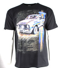 * Nuevo * Gran Rally Coches T-shirt Ford Escort BDA (MK2 RS1800) - Negro Tamaño X-Large