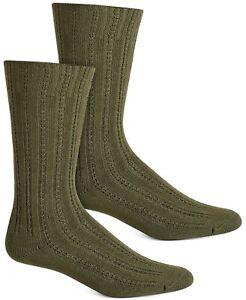 HUE Womens Temp Tech Tuck Stitch Ribbed Socks Shadow Olive One Size $8.50 - NWT