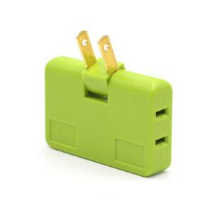 Mini Rotatable Converter Socket 180 Degree Rotation 3 In 1 Extension Multi Plug