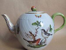 Herend porcelain Rothschild Bird PICCOLA TEIERA ROSA V. Finial 1 1/2 pinte (Ref1755)