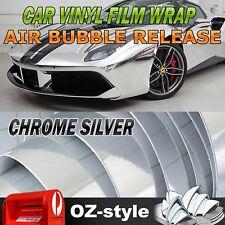 Chrome Silver Car Vinyl Wrap Door Trunk Hood Decoration Decals Film DIY 3Mx1.51M