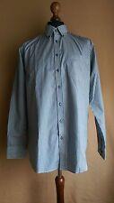Moniva Group Herren Canda Hemden Gr L Blau Gestreift Normal Fit Langarm C&A