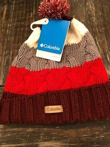 Columbia Carson Pass Cuffed Pom Pom Beanie Winter Ski Knit Hat Unisex OSFA NWT