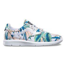 VANS ISO 1.5 (Tropical Leaves) True White UltraCush Trainer Shoes WOMEN'S 8