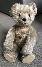 """Very RARE 17"""" Mohair Antique Musical Schuco 'Yes/No' Bear circa 1950 NICE NR"""
