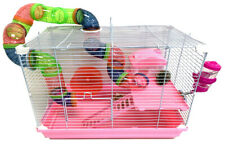2-Tiers Dwarf Hamster Small Animal Cage Habitat Rodent Gerbil Mouse Mice Rats