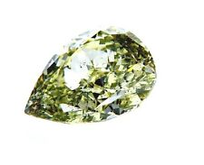 GIA Certified Rare FANCY GREEN NATURAL DIAMOND Pear Cut 2.37 CT SI2 Clarity