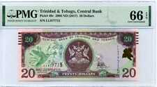TRINIDAD & TOBAGO 20 DOLLARS 2006/2017 P 49 C GEM UNC PMG 66 EPQ