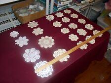 23 Crochet (ECRU & White) Doilies Mixed Styles/Sizes  by Wang Int'l, Memphis Tn
