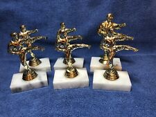 Used 5� Karate / Take Kwon Do Martial Arts Trophies Lot Of 6