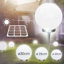 Veranda Solar Kugelleuchten Set 15cm, 20cm, 25cm Gartenlampen Terrasse Edelstahl