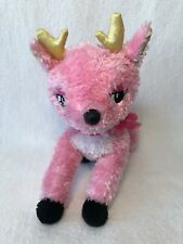 "Plush Aurora Pink Reindeer Razzle Dazzle Christmas Stuffed Animal 7"" Toy CM"