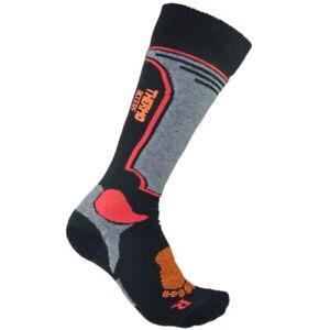 Kids Winter Ski Long Socks Boys Girls Sport Antibacterial Black Red 2 sizes