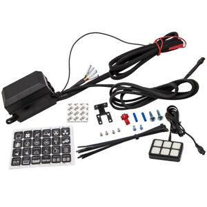6 Gang Switch Panel LED Light Electronic Relay Control System for Car Truck