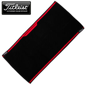 Titleist Players Woven Golf Towel Black/Red (16'' (H) x 32'' (W) - NEW! 2021
